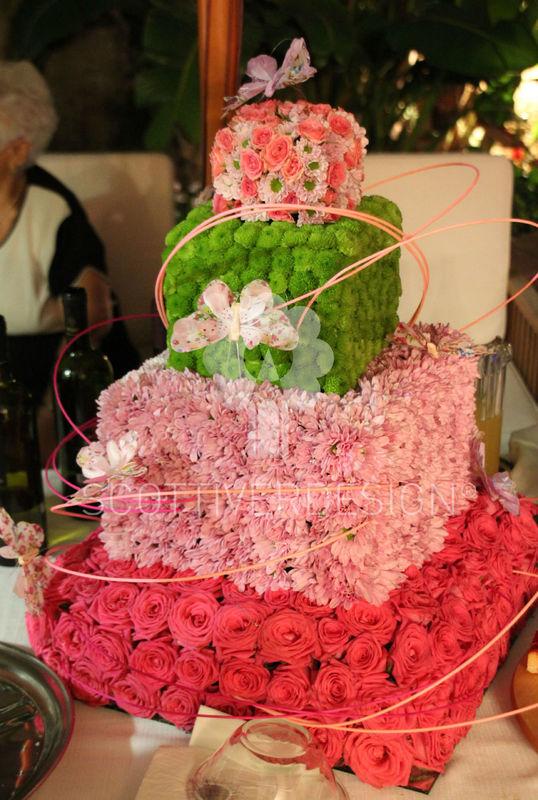 Wedding flower cake........