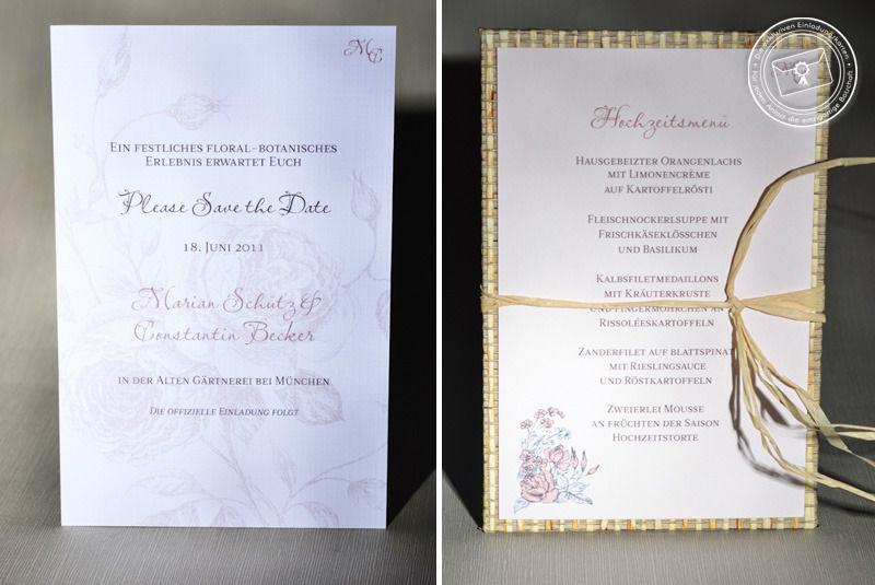 Beispiel: Hochzeitspapeterie, Foto: Die exklusiven Einladungskarten.