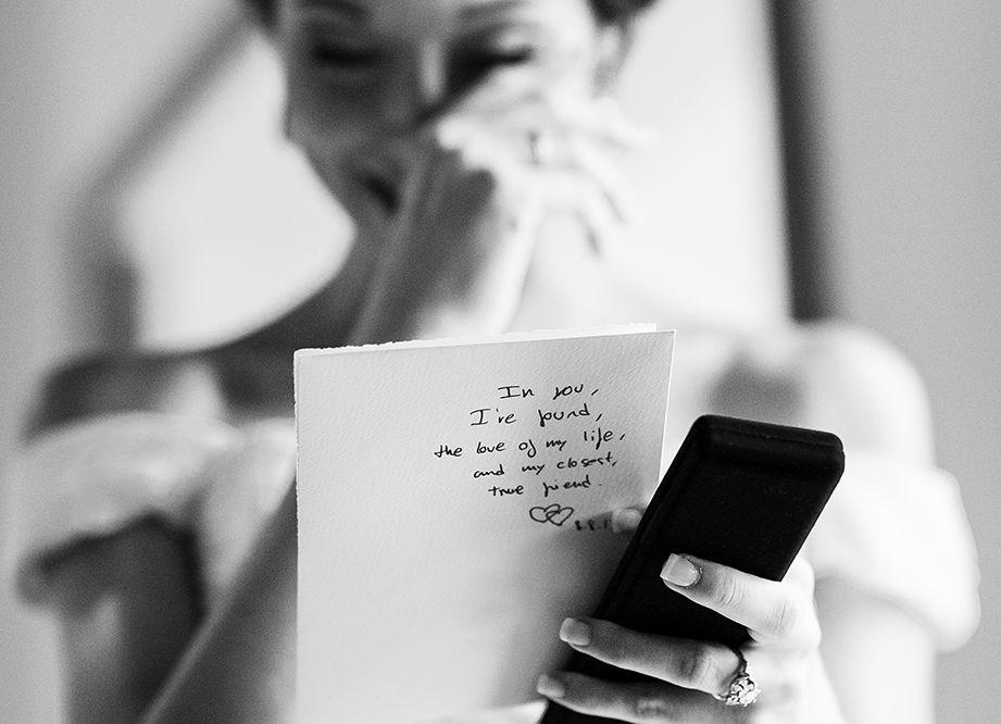 La carta del novio.