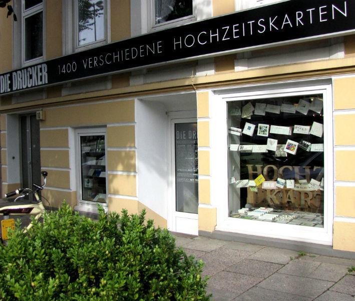 Beispiel: Ladengeschäft, Foto: Die Drucker Hochzeitskarten.