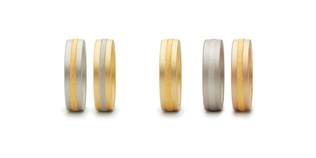 Beispiel: Verschiedene Materialien, Foto: Juwelier Schlund.