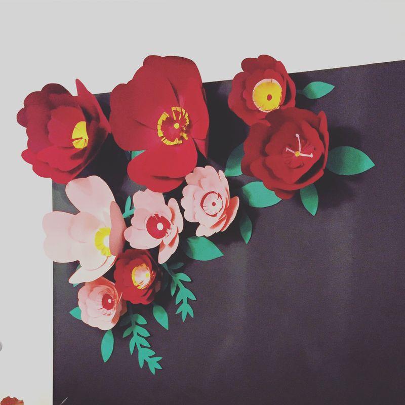 Photocall fondo flores