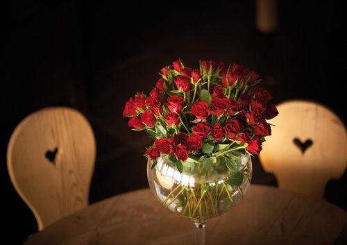 Beispiel: Romantik, Foto: Maiensässhotel Guarda Val.