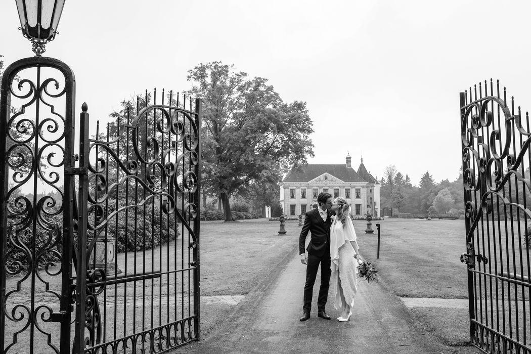 Bruiloft in de herfst. Landgoed Singraven.