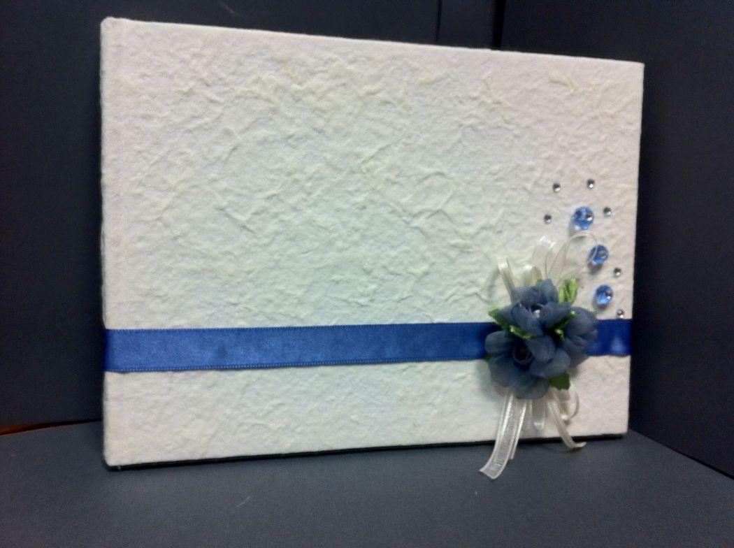Guest book libro ospiti per matrimonio blu avio