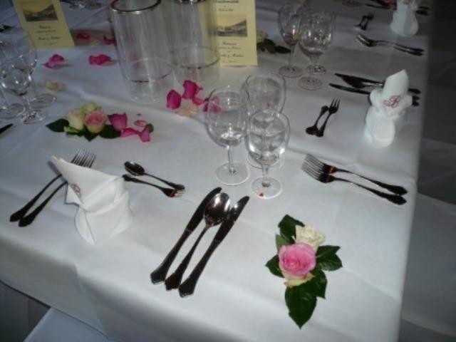 Beispiel: Tischdekoration, Foto: Landgut Buschmühle.
