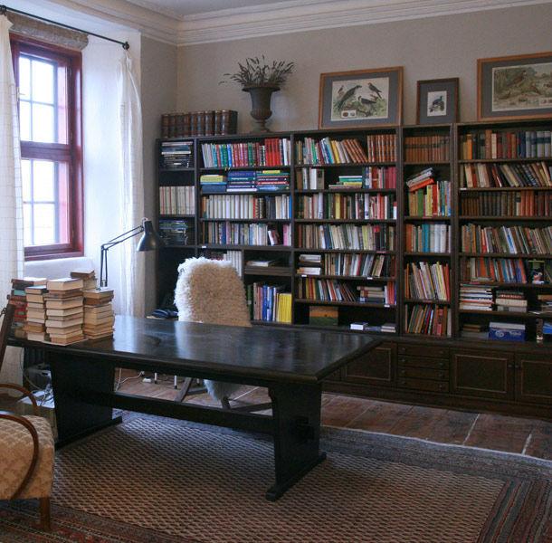 Beispiel: Bibliothek, Foto: Schloss Schmarsow.