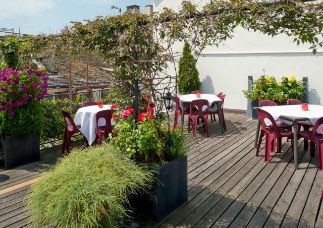 Beispiel: Dachterrasse, Foto: Hotel Hirschen.