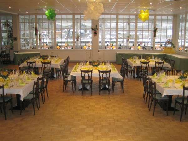 Beispiel: Innenraum - Hochzeitsbankett, Foto: Neu Helgoland.