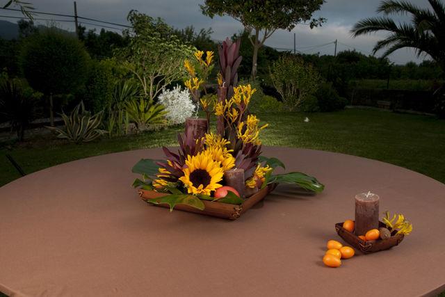 Centros florales y frutales