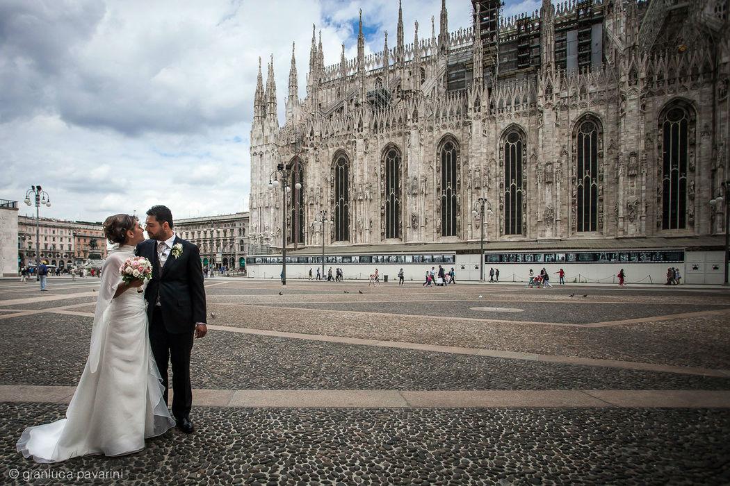 Gianluca Pavarini Fotografia - matrimonio a Mailano, piazza Duomo