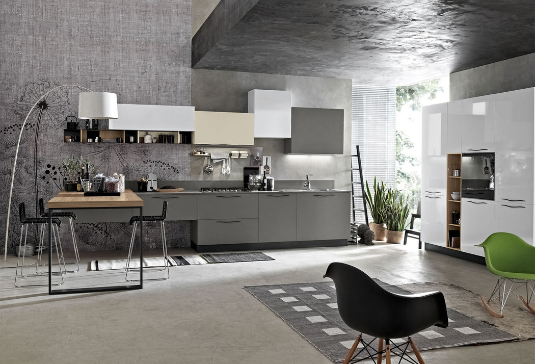 Maya is a robust modular kitchen built with the highest quality materials . It has modern and elegant lines , cleverly fused with a practical and functional design.
