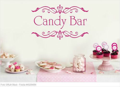 Wandtattoo Hochzeit - Candy Bar Ornament