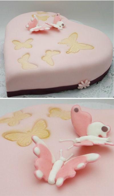 Beispiel: Herztorte, Foto: Cupcakes Wien.