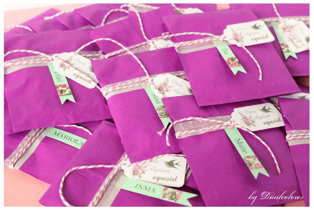 Dmilcolores. Packaging especial para despedidas de soltera.