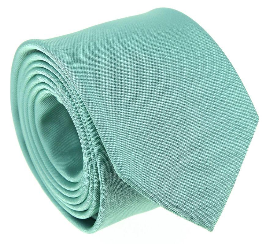Cravate en soie vert d'eau - Maison de la Cravate