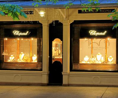 Beispiel: Ladengeschäft, Foto: Juwelier Thoma.