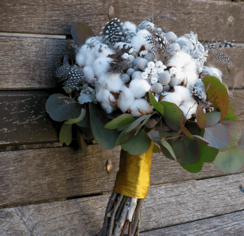 Bouquet de Noiva Flor de Algodão