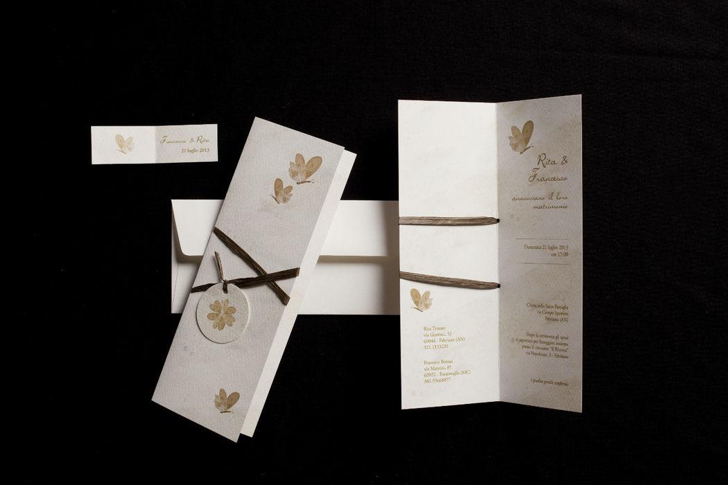 Partecipazione nozze Mariposa