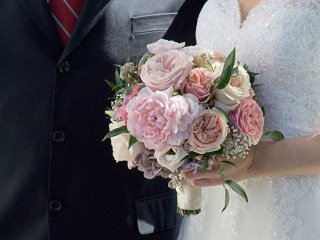 Beispiel: Brautstrauß in rosa, Foto: Evelyn Kühr.