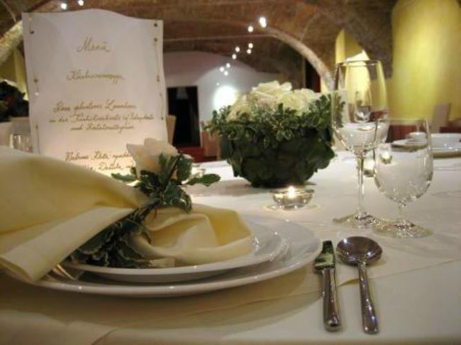 Beispiel: Tischdekoration, Foto: Schloss Gamlitz.