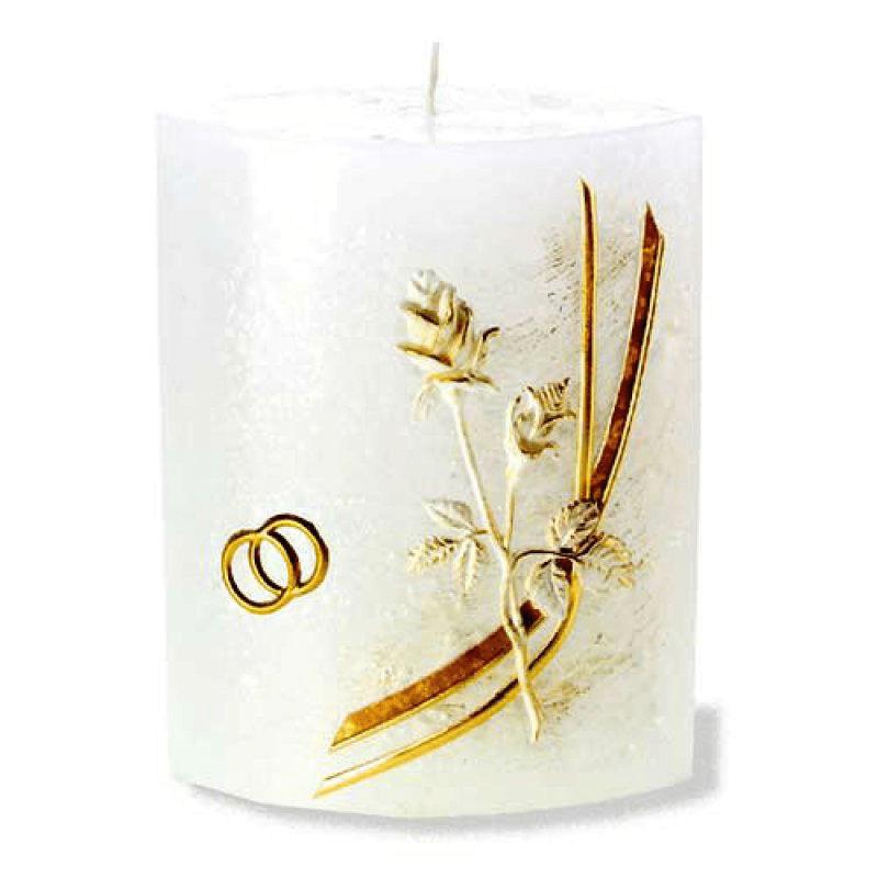 Beispiel: Ihre persönliche Hochzeitskerze, Foto: Kerzenwelt.