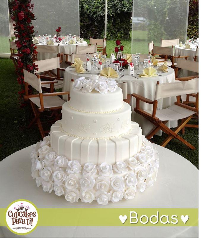 Cupcakes para ti! Maqueta de torta de bodas