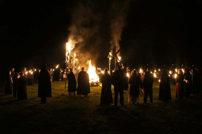 Beispiel: Heidnisches Flammenfest, Foto: Eheleite.com.