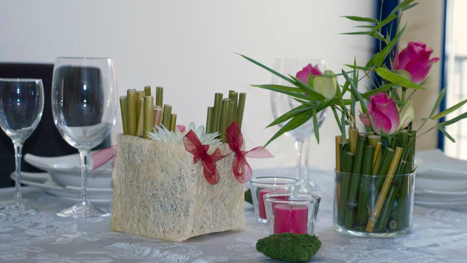 Beispiel: Einmaliger Blumenschmuck, Foto: Festdeko.
