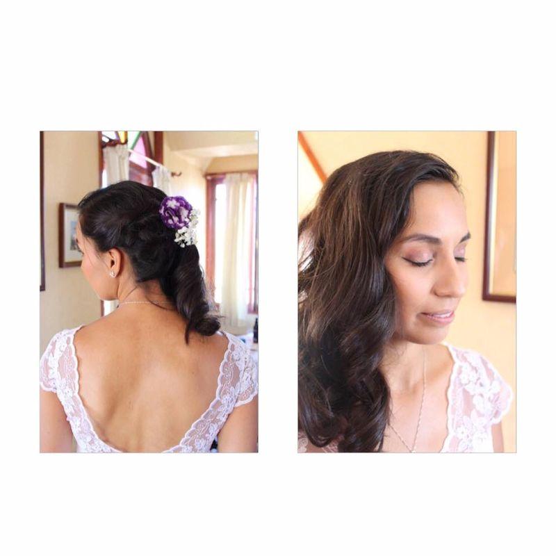 Peinado y maquillaje para Natalia en su matrimonio