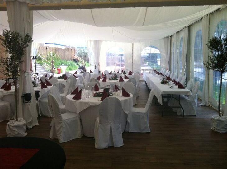 Beispiel: Hochzeitstafel, Foto: Beachclub Schleusenperle.
