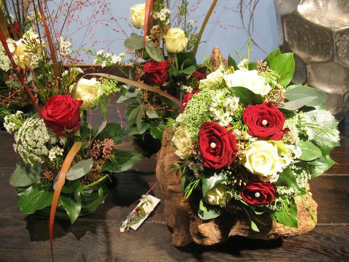 Beispiel: Umsetzung persönlicher Vorstellungen in der Hochzeitsfloristik, Foto: Frankfurter Blumenbote.
