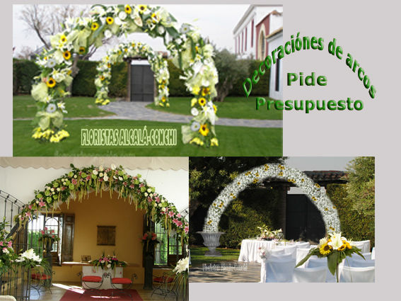 DISTINTAS DECORACIONES DE ARCOS  PARA EVENTOS