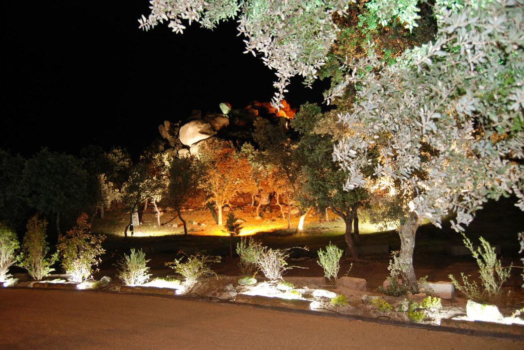 Exterior Iluminado de noche
