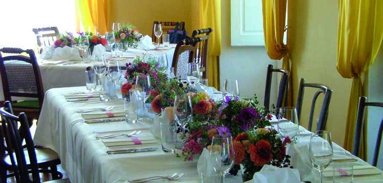 Beispiel: Hochzeitstafel, Foto: Schloss Kapfenstein.