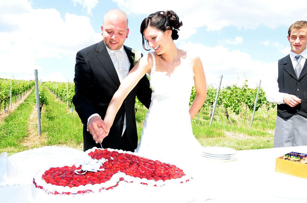 Beispiel: Glückliches Brautpaar, Foto: B-Artists.