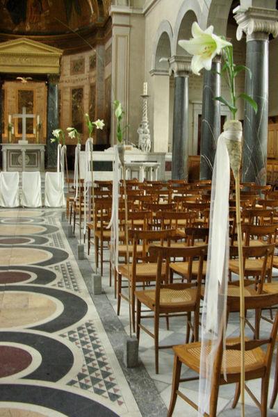 Beispiel: Kirchendekoration, Foto: Nadja Meyer Floristik.