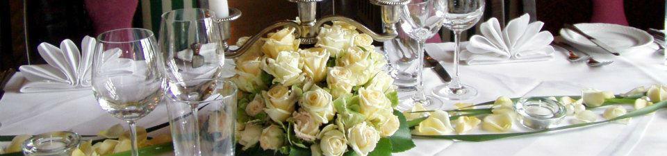 Beispiel: Blumenschmuck, Foto: Italienisches Dörfchen.