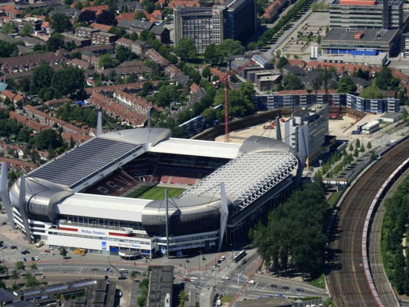 Philips stadion van bovenaf