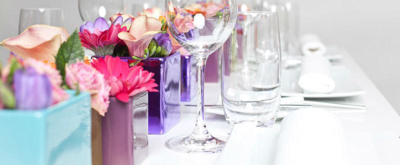 Beispiel: Tischdekoration, Foto: Schlosshotel Rettershof.