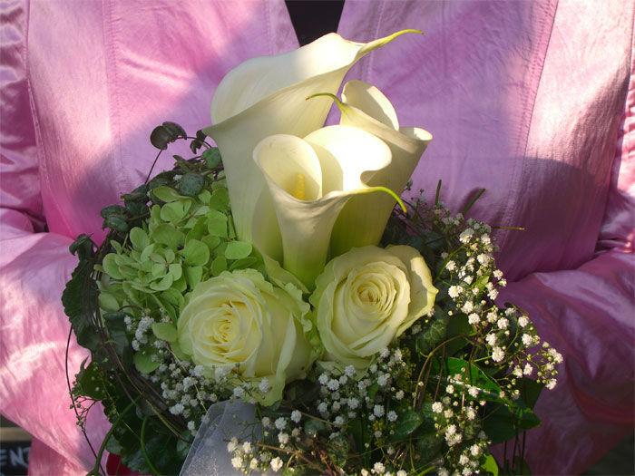 Beispiel: Gelbe Rosen im Brautstrauß, Foto: Floristeria.