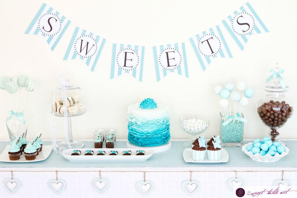einzigartiger Sweet Table mit ombre-raffle-Torte