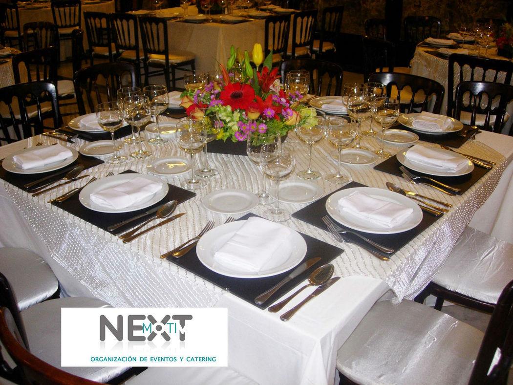 Su boda con nextmotiv_montaje y decoración_mesa cuadrada
