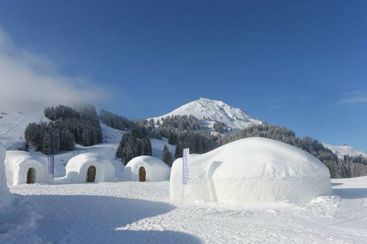 Beispiel: Iglu Dorf, Foto: Alpeniglu Dorf