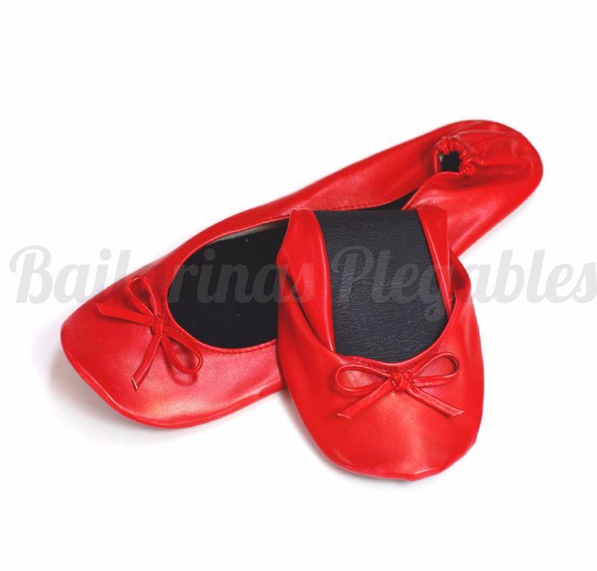 Bailarinas Plegables  Rojas