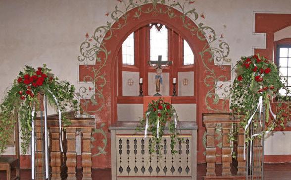 Beispiel: Kirchenschmuck, Foto: Blumenoase.