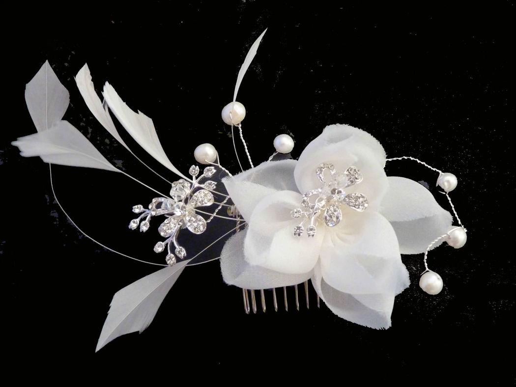 Beispiel: Design Haargesteck Blüte. Foto: Bigis-schatzkiste
