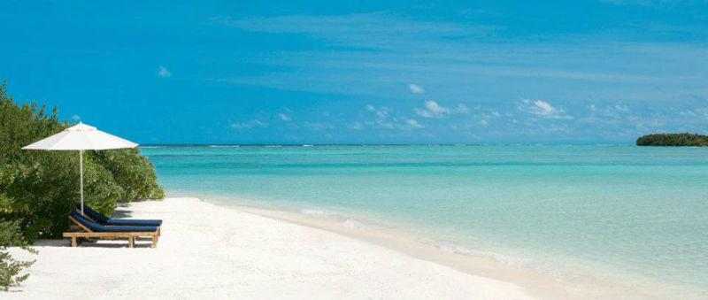 Weißer Sandstrand und Sonnenschein, LUX* Maldives