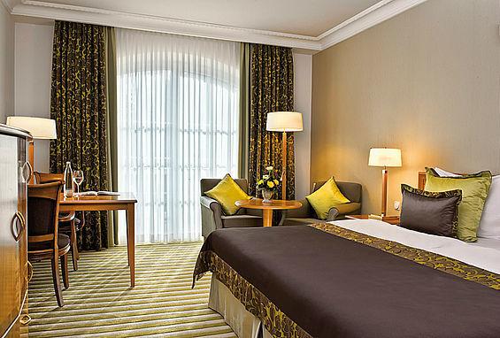 Beispiel: Doppelzimmer, Foto: Travel Charme Strandidyll Heringsdorf.
