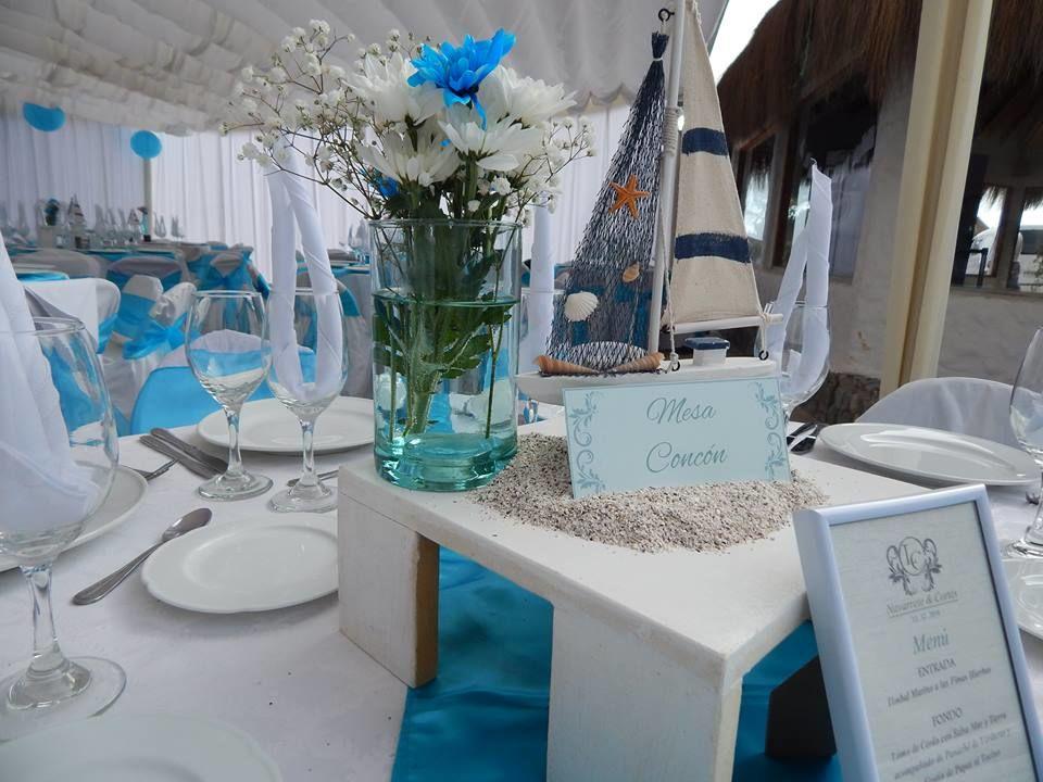 decoración marina, en calipsos, matrimonio Totoralillo Coquimbo